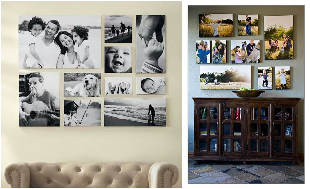 Some fun canvas displays.  Again, not my images, these are ideas from Pinterest.