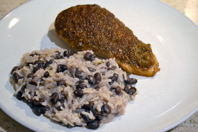 Jerk Chicken with Rice and Beans | The Life Delicious | Catherine Roscoe Barr