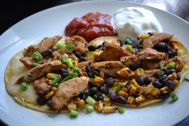 Chicken, Black Bean and Corn Quesadillas | The Life Delicious | Catherine Roscoe Barr
