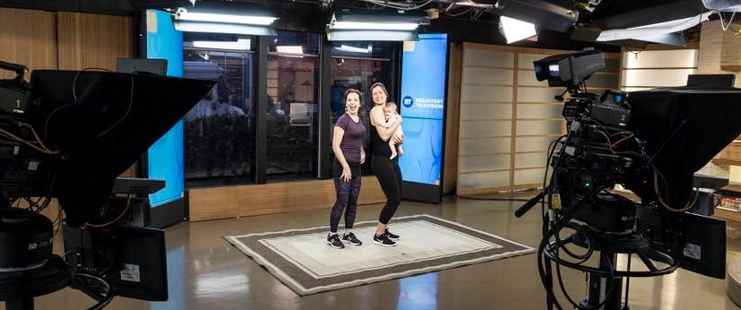 Check out baby Bronwyn's TV debut on my Breakfast TV segment with Tara Jean Stevens on postpartum fitness!