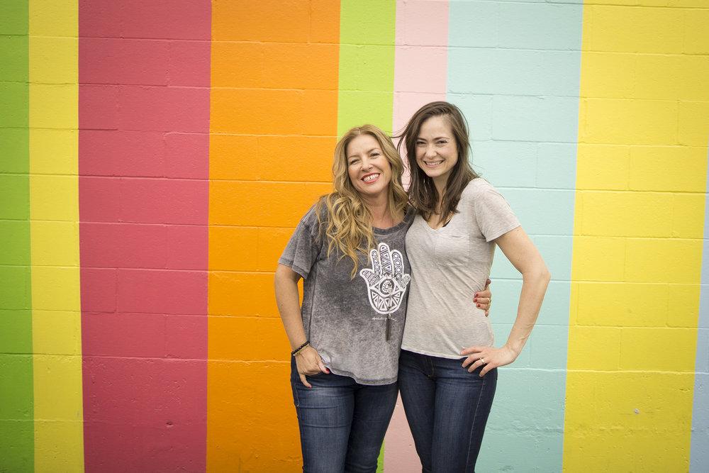 Jenny Xenos, left, and Catherine Roscoe Barr (IMAGE: www.aaronjbarr.com )