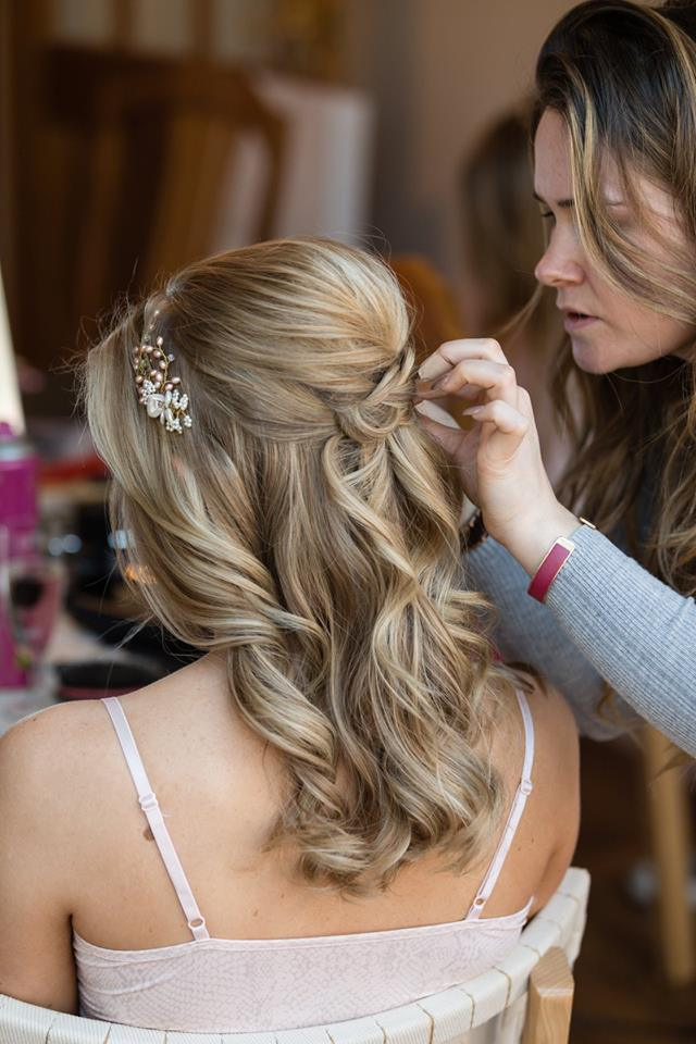 Wedding hair half up half down