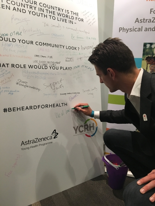 Canadian Olympian Martin Reader adds to the #BeHeardForHealth ideation board