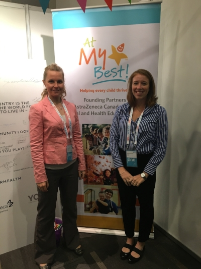 PHE Canada's Brandy Dewar and Kendra MacFarlane at the YHP booth