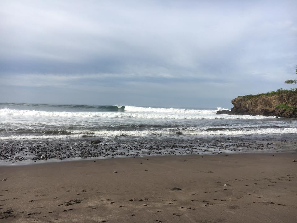 """Semi-secret spot""   - 6ft, offshore, mid tide, firing and nobody out"