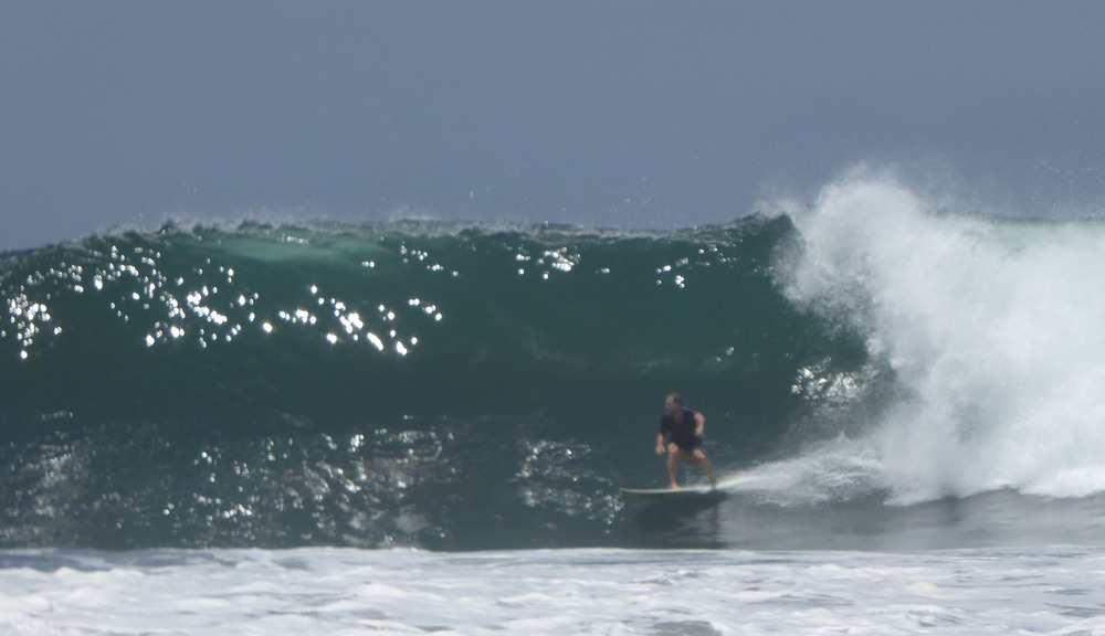 Mitch on a glassy one, Punta Roca