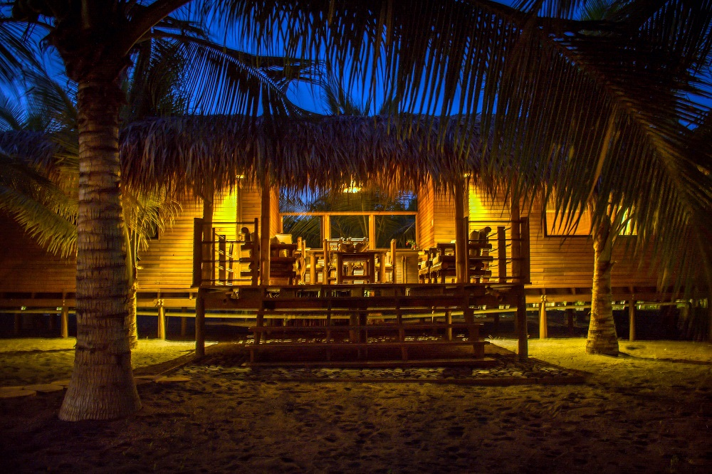 The Bungalows at night