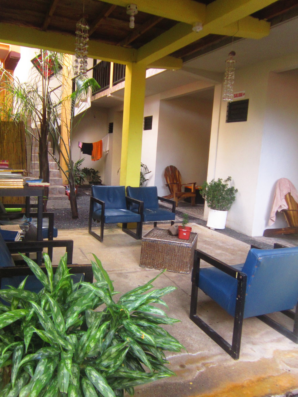 Common areas outside the rooms