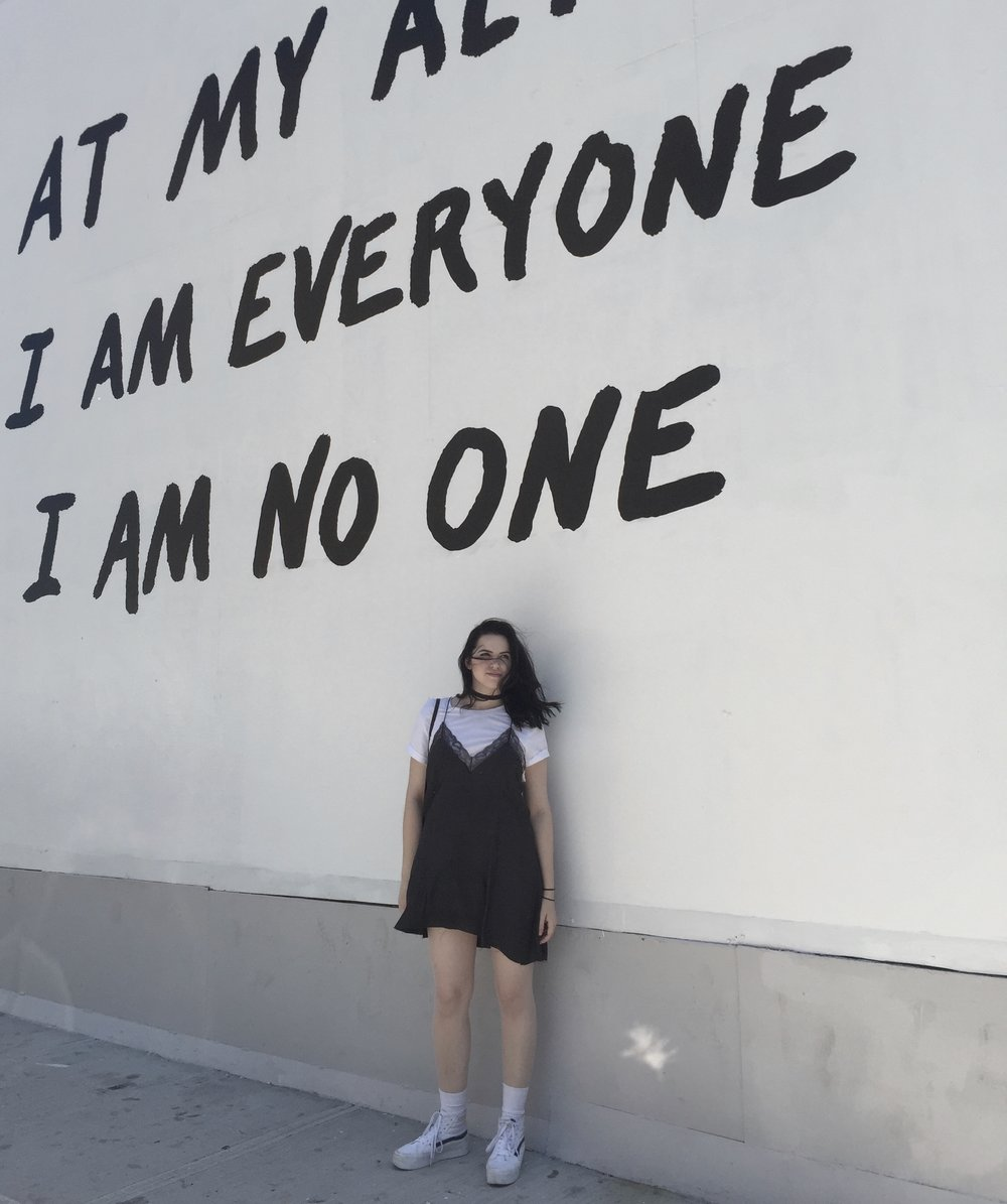 then I was posing in front of cool walls in bushwhick, and my macbook keeps autocorrecting bushwhick into bushwhack and that's super offensive and not true at all.
