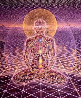 Painting by Alex Grey, Yogi & Mobius Sphere
