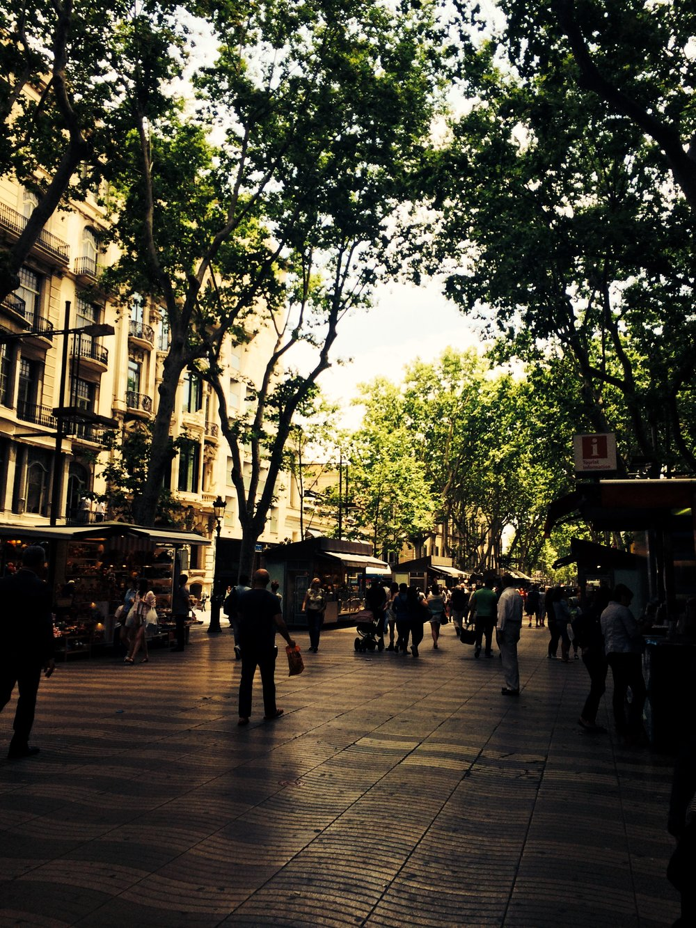 La Rambla, Barcelona 2014