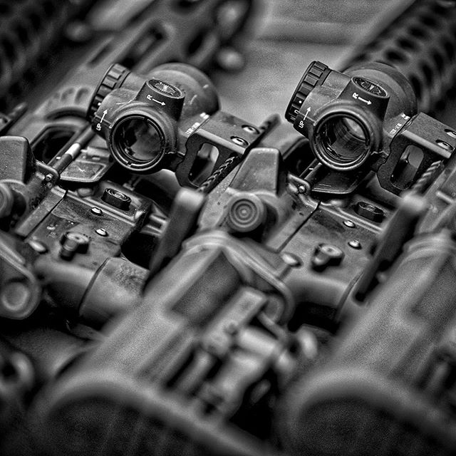It's #art.  @jprifles JP-15s waiting for next round of cops to start the training day. . . . #pewpew #2a #police #training #bwphotochallenge #tactical #photography #lawenforcement #leo #ar15 #jprifles #archwaydefense  PC: @bettcherphoto