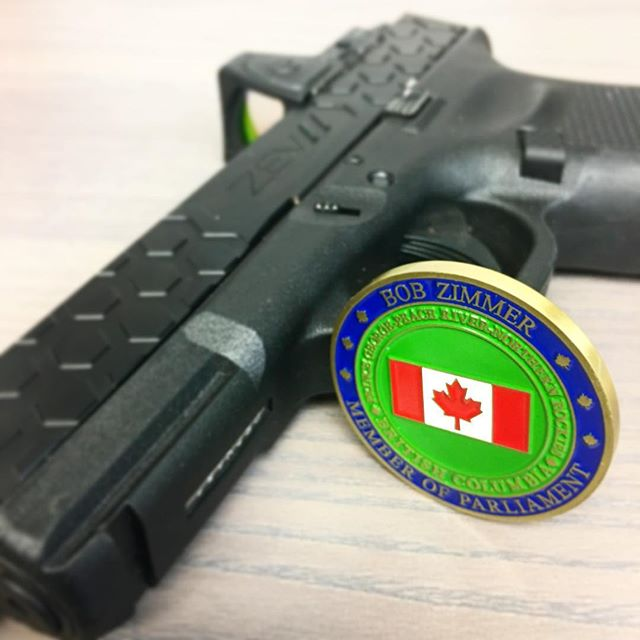 #ShotShow prep is in full swing back at the office.  We are excited to see old friends like our #Canadian Friend Bob Zimmer from the House of Commons.  Also, @shotshow is a great place to connect with an international community that believes in the right of self defense. #cantwait #vegas #vivalasvegas #2a #pewpew #Canada #🇨🇦 #gun #gunsofinstagram #zevtech #glock19 #glock #9mm