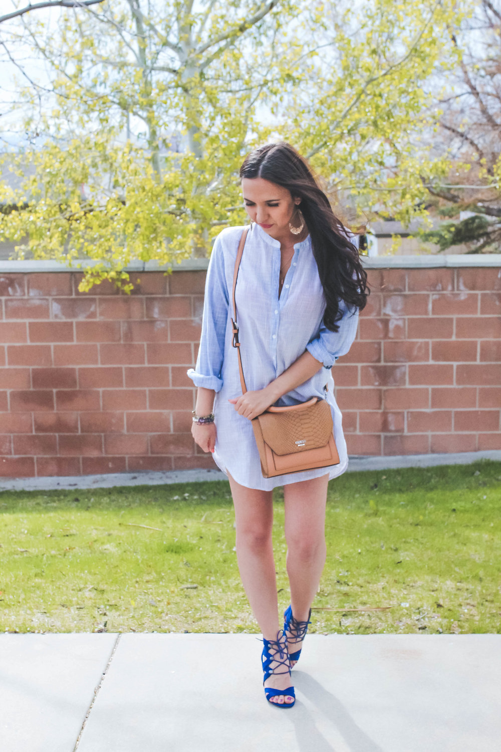 stripedshirtdress