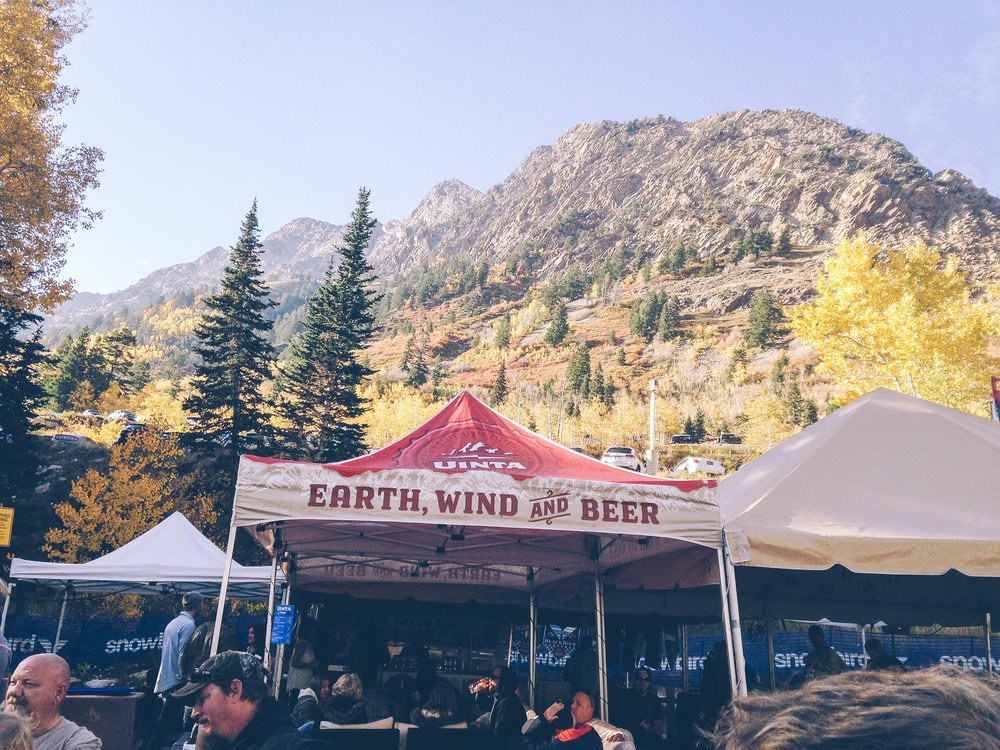 This is during Oktoberfest up at Snowbird Ski Resort. I've been every year since I first moved there, and it's become a tradtition. It's been voted one of the best Oktoberfests in the entire country.
