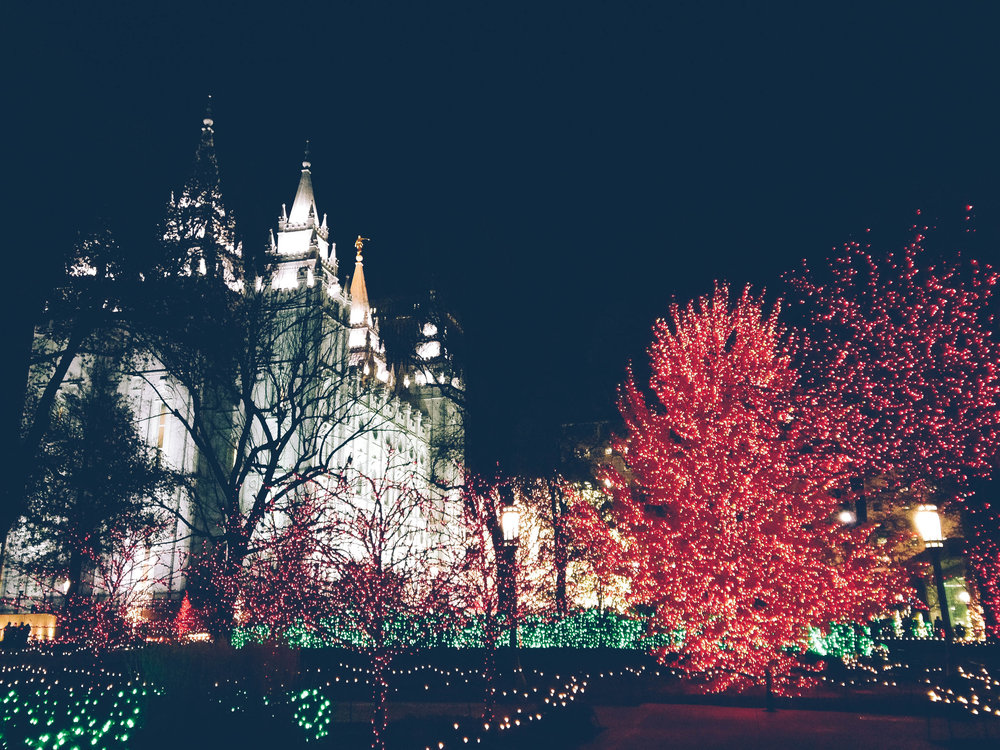 The Temple, I'm not LDS but I loved the temple. Looked like a castle in the middle of downtown. It was especially gorgeous during the holidays with all of the lights!
