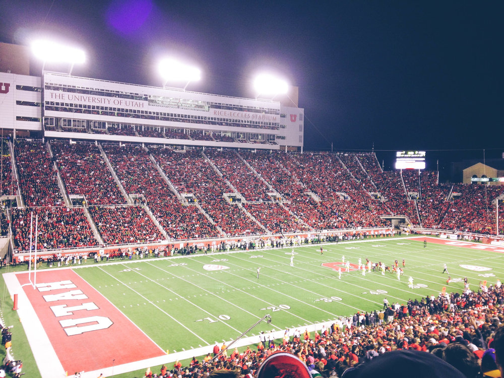 I spent a lot of times at these University of Utah games, they were a fun time in college!