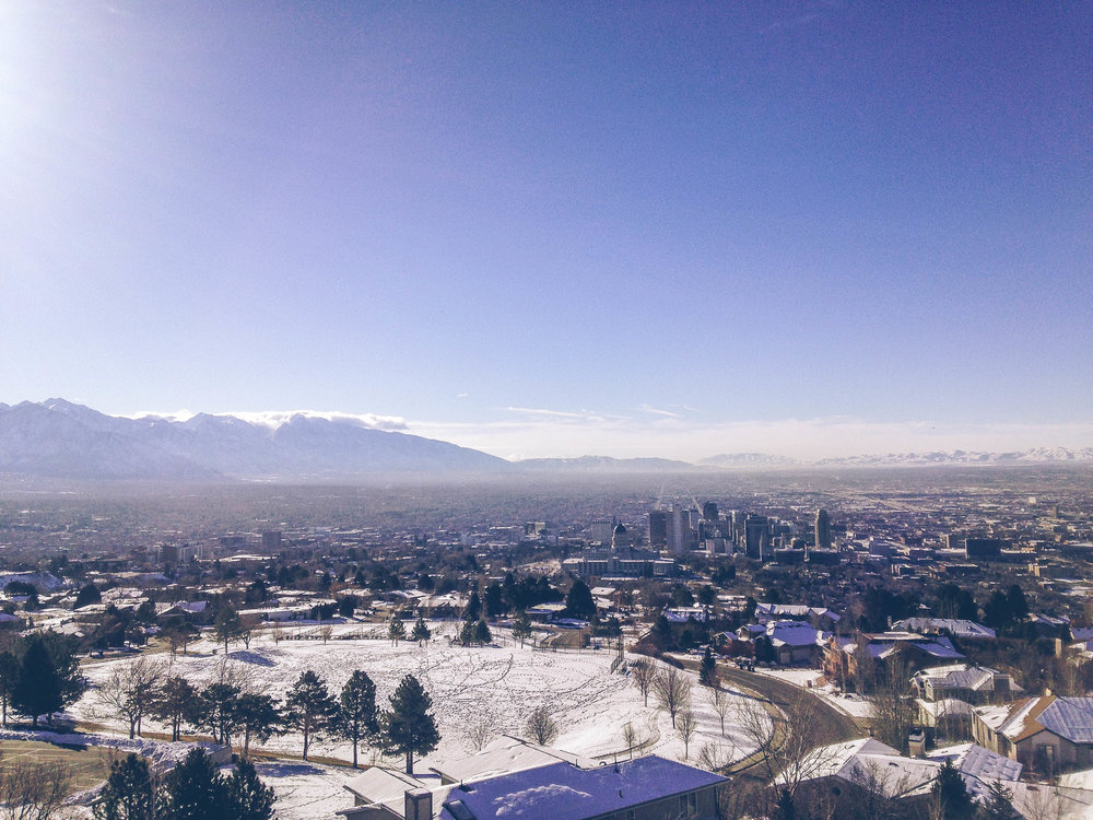Ensign Peak is my favorite place in Salt Lake, it's a short hike that gives you gorgeous views of downtown and the entire valley. This isn't even all the way to the top, so the view can be much better than this one!