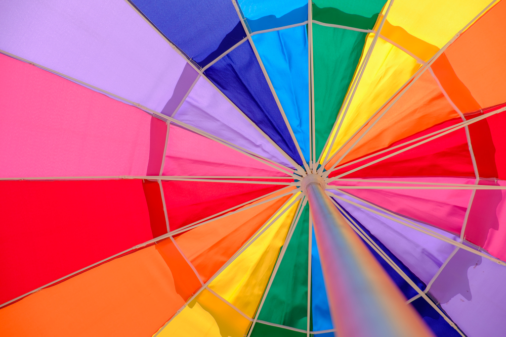 Colourful beach umbrellas