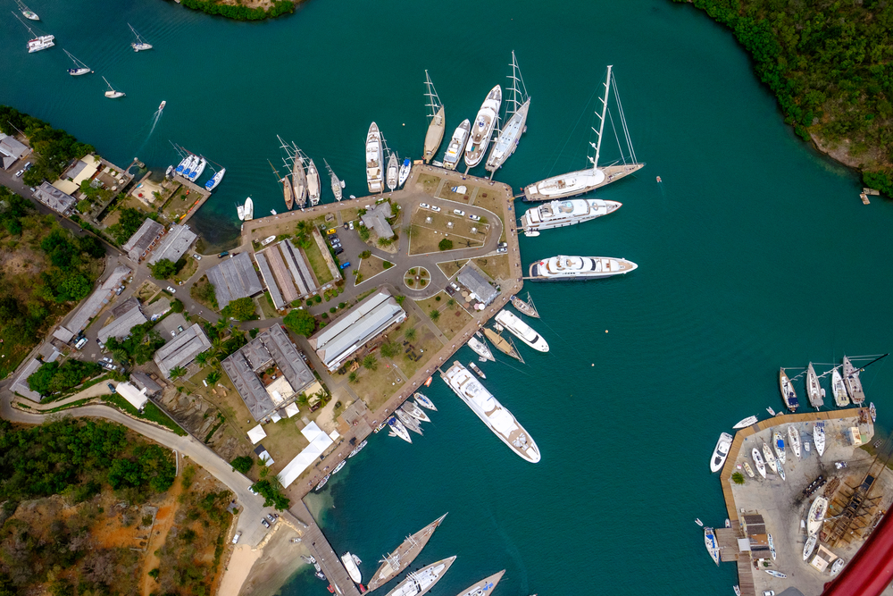 Yachts of Antigua from Heli