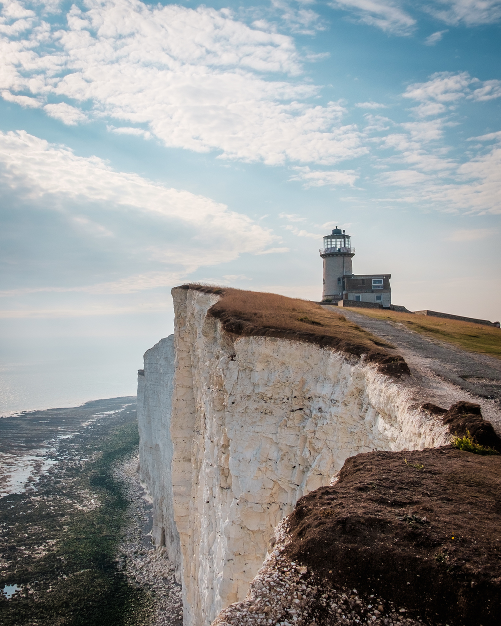 Belle Tout Lighthouse with chalk cliffs
