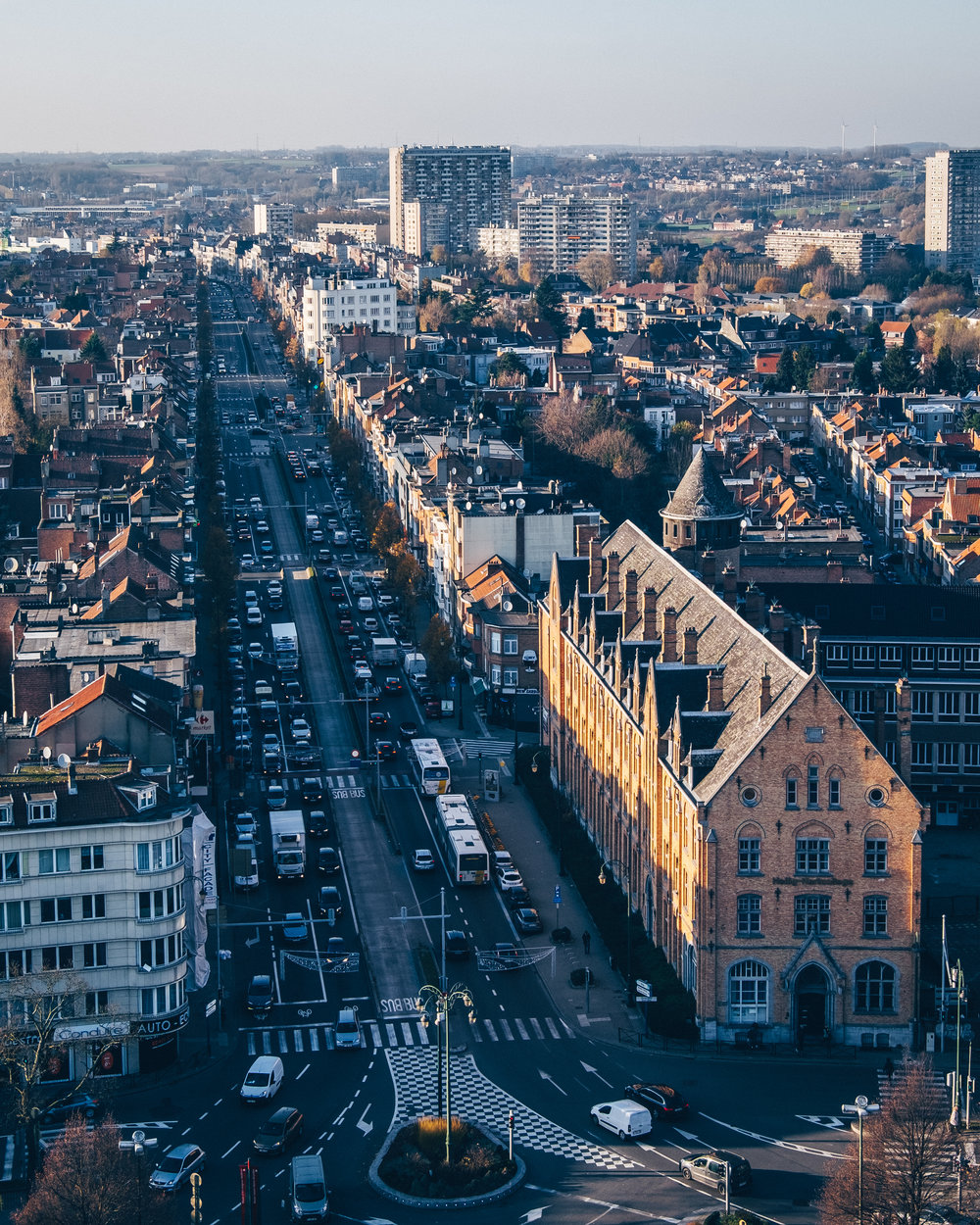 Rooftops of Brussels from Basilica of sacred heart
