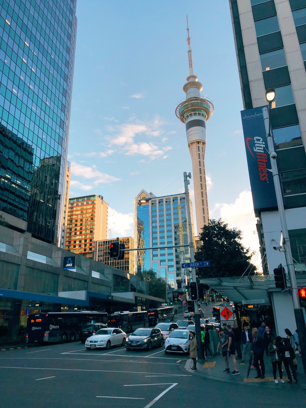 Sky Tower in Downtown