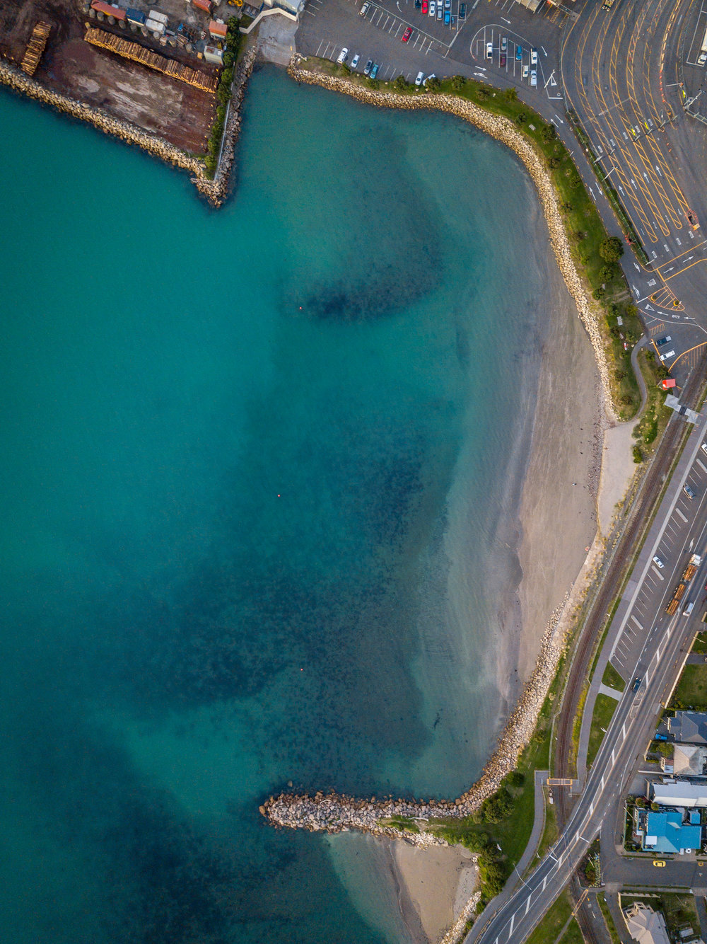 Ahuriri Beach from above