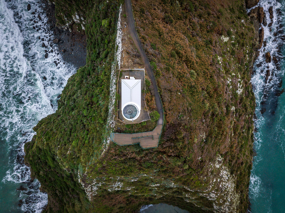 Nugget Point Lighthouse from above