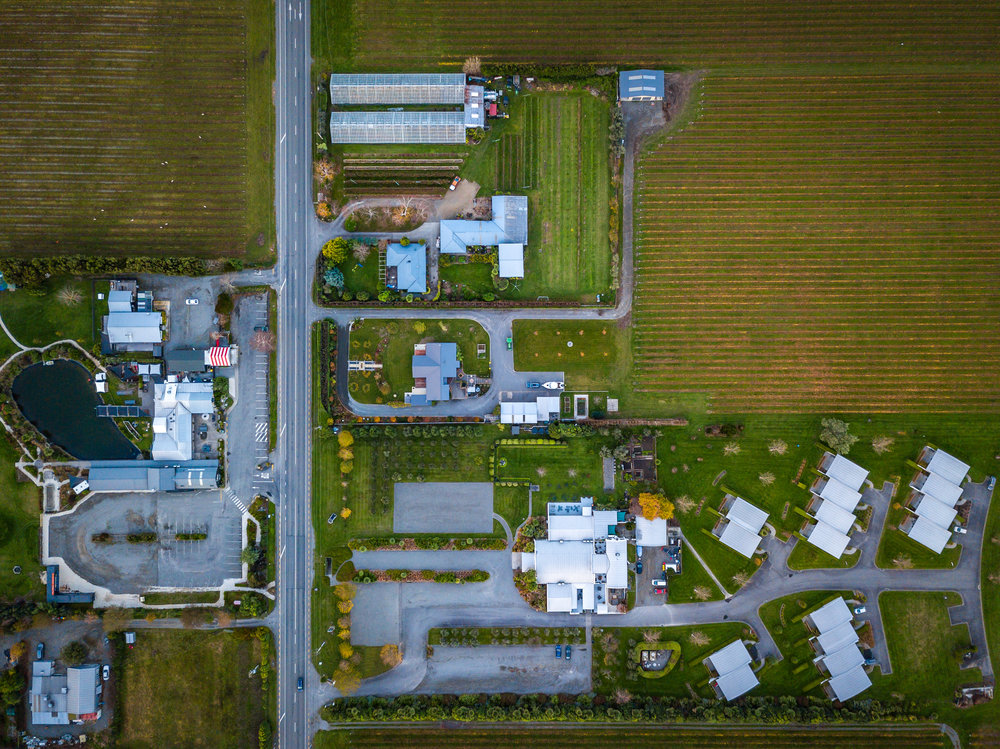 Marlborough Vintners Hotel from above