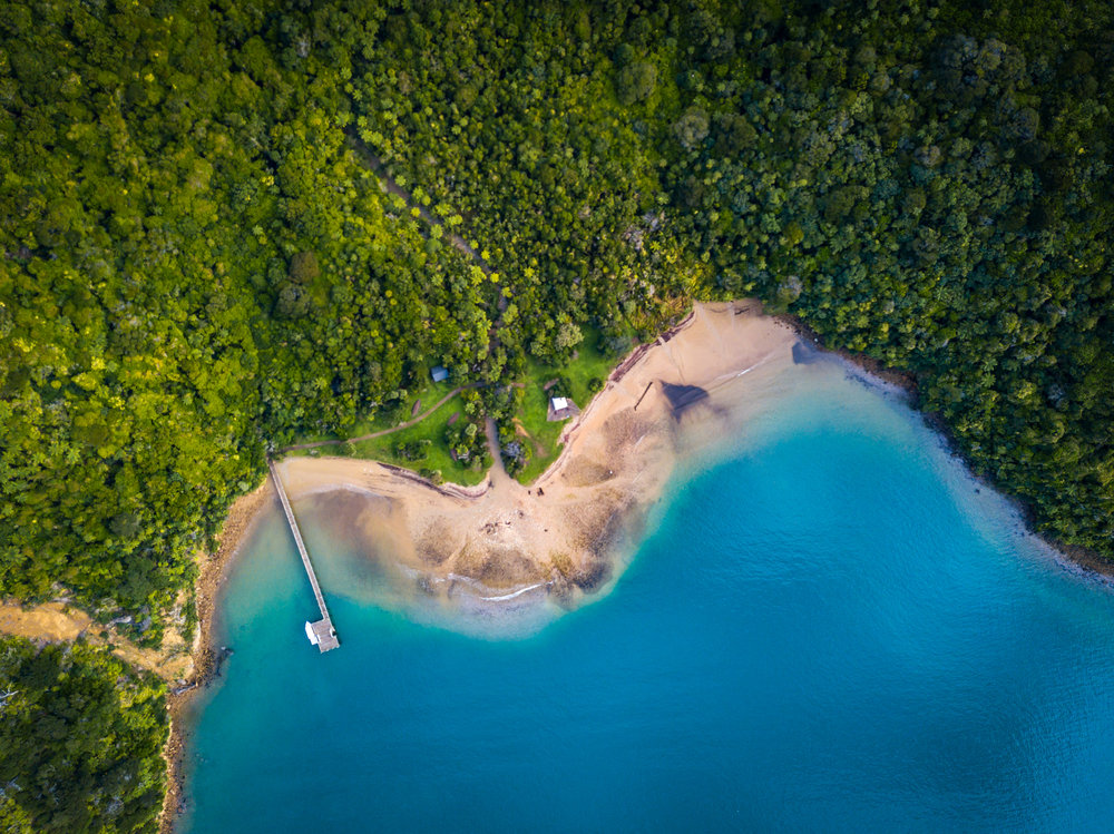 Ship Cove bay from above