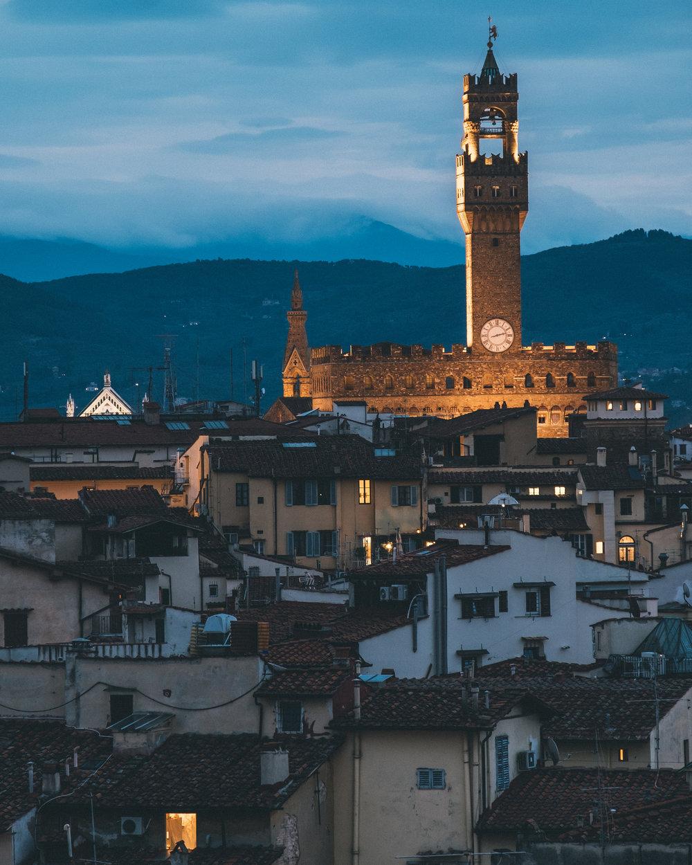 Palazzo Vecchio at down