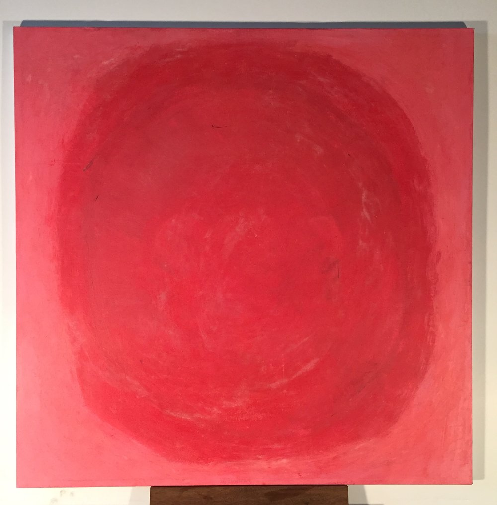 Red, 2016 Acrylic and chalk on canvas 30 x 30 inches