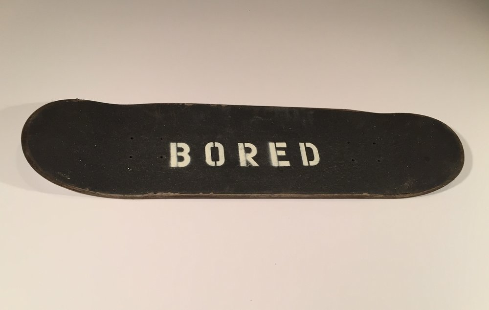 Bored Board,  2016 Spray Paint on Skateboard