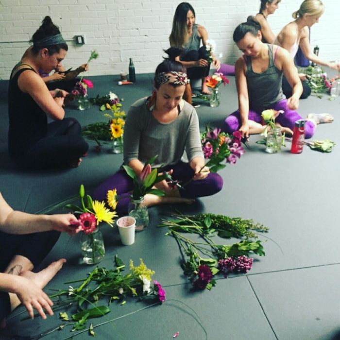 Floral Arrangement class at Yoga + Plants