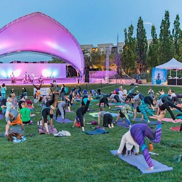 Looking forward to @omfestcolorado this Saturday in Stapleton! Thanks to generous sponsors tickets are now FREE. Check out the schedule on @omfestcolorado page for details on classes from 9 a.m. to 8:30 p.m. • • OmFest's mission is to bring mindfulness and meditation to Denver schools. Please consider donating to this worthy cause. • • See y'all there!! 💓💓💓