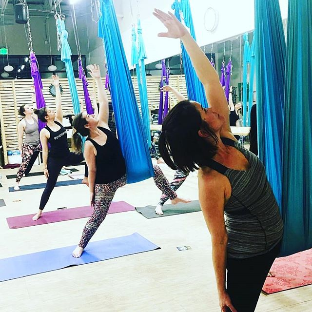 On the blog ➡ 5 Ways Aerial Yoga Can Lead to Gains with Your Mat Practice from the lovely @jendoesaerial. Read and learn how the hammock acts as a prop, like a strap or block, to help gain the skills to make progress on your yogic journey ❇ [[See link in bio]] • • PLUS, for UY friends and fans, here's a promo code for $12 classes (40%) at Atherial 💓: Just use UYFALL2018