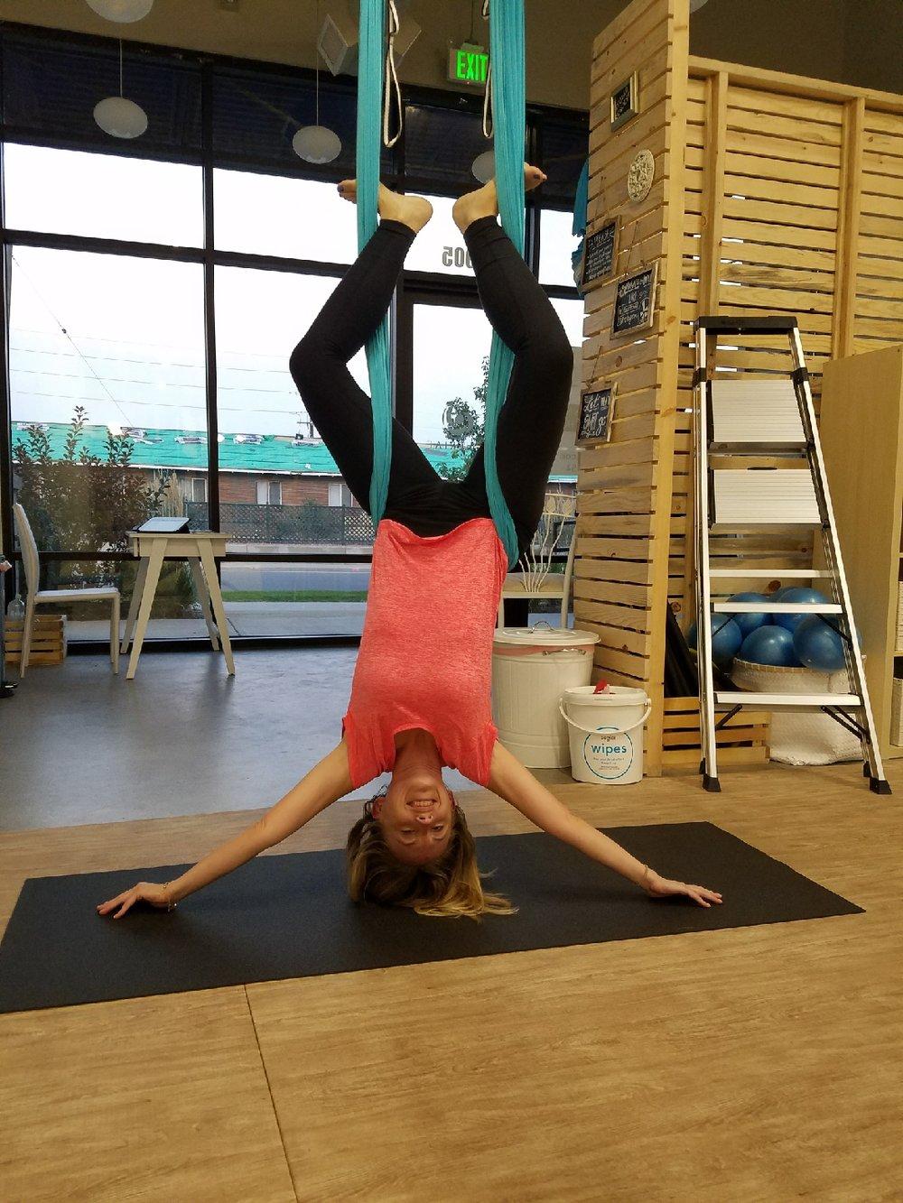 Aerial Yoga at Atherial in Denver