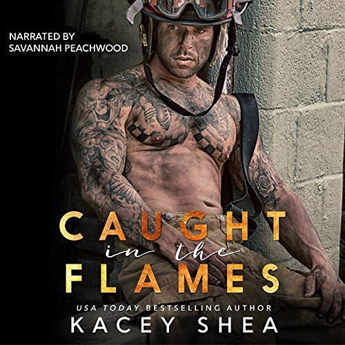 🚨 Release day! The audiobook of CAUGHT IN THE FLAMES by the incredible @kaceysheabooks is now avail on @audible_com!!! This book was a joy to narrate, funny AF, and surprised me again and again! (#nospoilers) Callie is one of my favorite romance heroines ever. And, I mean, firefighters... amiright? 🔥🔥🚒🔥🔥 #caughtintheflames #kaceyshea #audible #audiobook #narrator #romance #firefighters