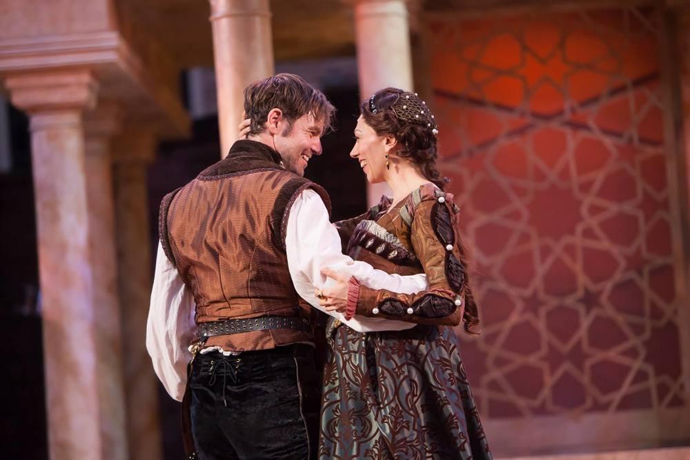 Emilia (Vanessa Morosco) and Iago (Geoffrey Kent)