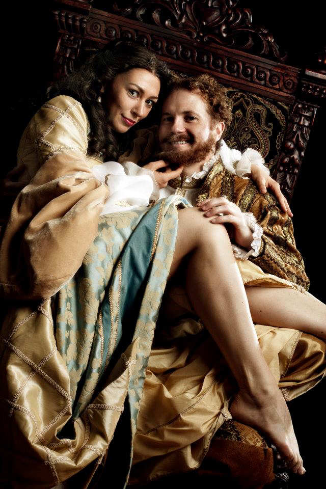 Anne Boleyn (Vanessa Morosco) and Henry VIII (Timothy Carter)