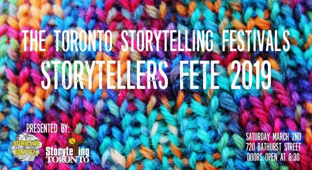 Toronto Storytelling Festival.