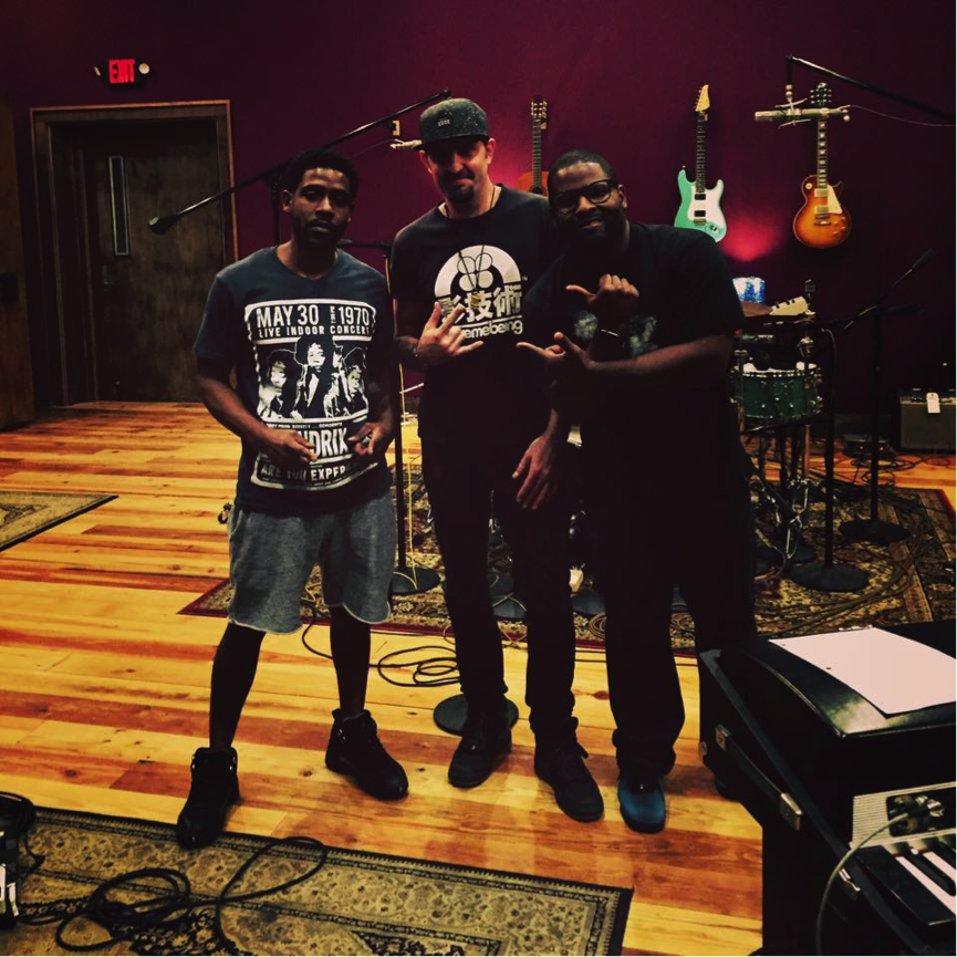 Terrence Houston, Mike Bass and Raja Kassis laying it down at The Parlor Recording Studio, New Orleans.