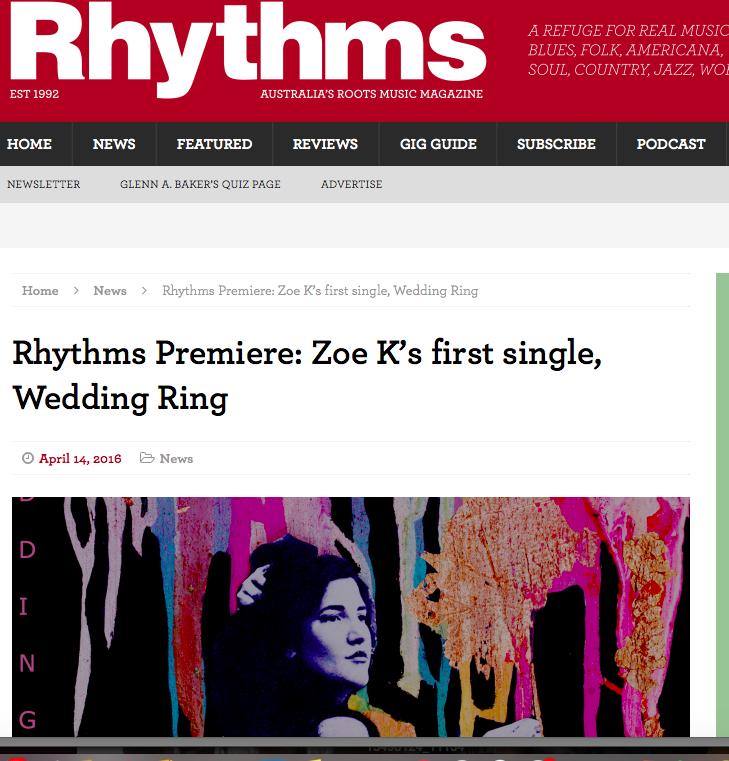 Single Premiere, Rhythms Magazine, (2016)