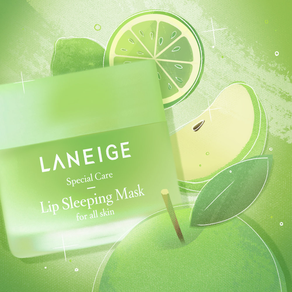 AmorePacific - Laneige Social Media ROUND 2 - Fruit Story Apple-lime Illustration - V02.jpg