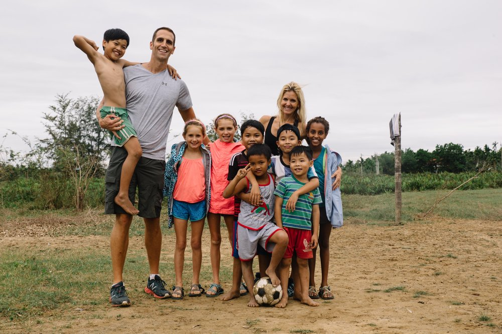 We enjoyed a friendly soccer match and testing our subpar skills, against the local village children during a bike ride on the outskirts of Hoian, Vietnam. The kids were excited to show off their impressive skills and were even more thrilled to have their photo taken.