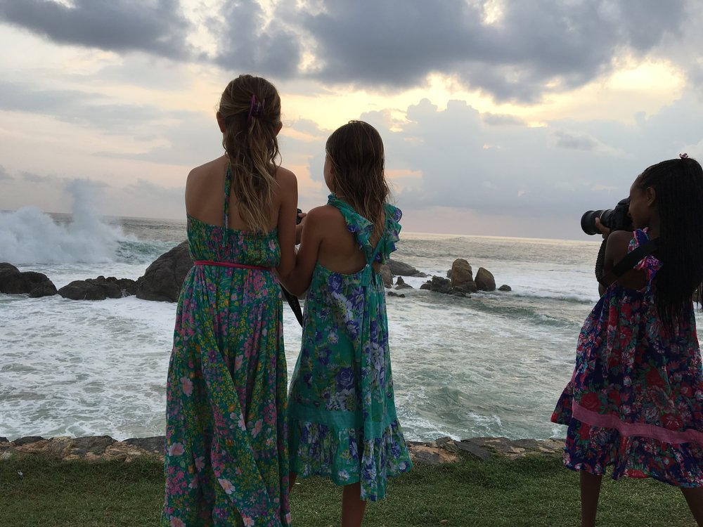 Future photo journalists in the making. Galle Fort, Sri Lanka provided many amazing sights for the girls to capture and practice their photography skills.