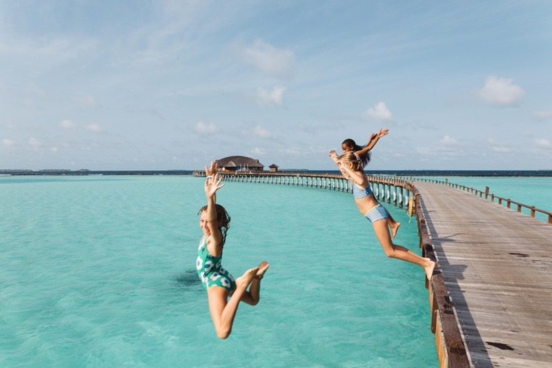 Jumping for joy on our final day in the Maldives. It was hard to leave such a beautiful place, but we are very lucky for the experience and for being able to take in one of the prettiest sights we have ever seen. 5 days of fun and sun at the Sun Siyam Resort was a perfect ending to our journey of the globe.