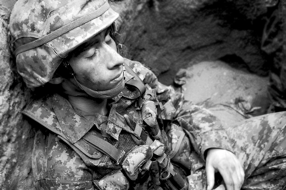A photo of an old army friend of mine. One of my all-time favourites. It really captured the essence of our training.