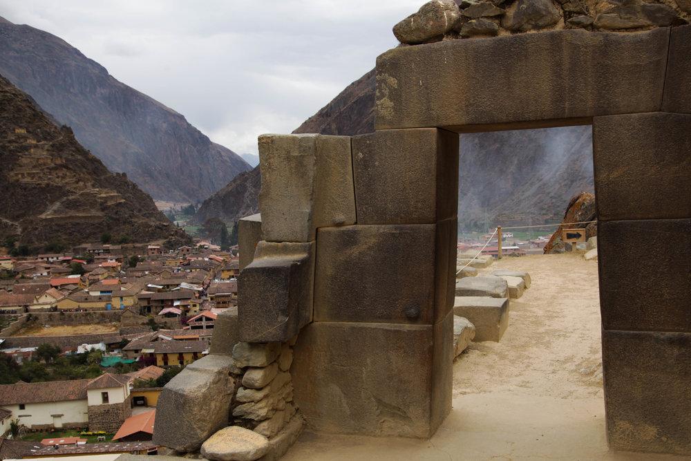 Ollantaytambo from the Inca Ruins